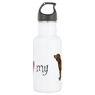 I Liebe mein amerikanisches WasserSpaniel Trinkflasche
