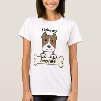 I Liebe mein Amstaff T-Shirt