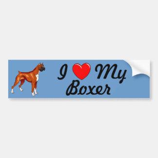 I Liebe mein Boxer-Autoaufkleber Autoaufkleber