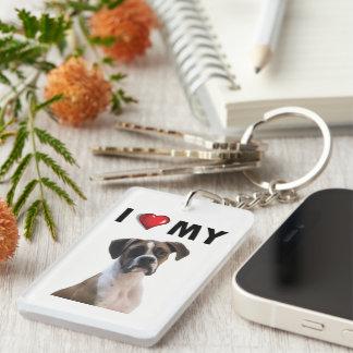 I Liebe mein Boxer Keychain Schlüsselanhänger
