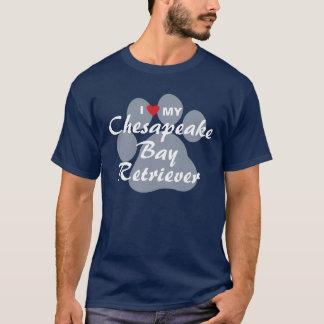 I Liebe mein Chesapeake-Bucht-Retriever T-Shirt