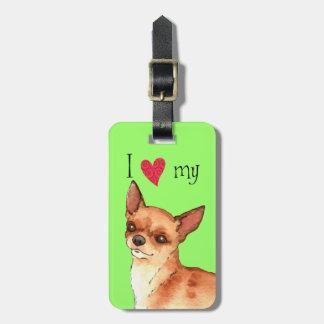 I Liebe mein Chihuahua Gepäckanhänger