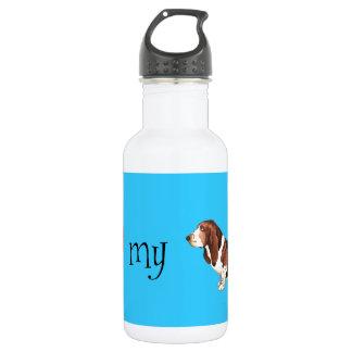 I Liebe mein Dachshund-Jagdhund Edelstahlflasche