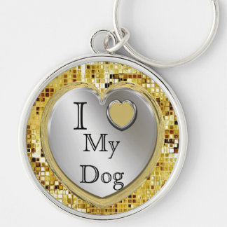 I Liebe mein Hund oder? Herz Keychain Schlüsselanhänger