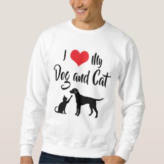 I Liebe mein Hund und Katze Sweatshirt