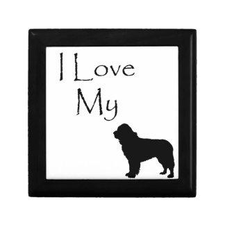 I Liebe mein Hunde-Reihen-Geschenk - einzigartiges Kleine Quadratische Schatulle