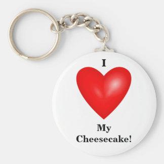 I Liebe mein Käsekuchen Keychain Standard Runder Schlüsselanhänger