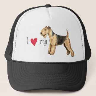 I Liebe mein Lakeland-Terrier Truckerkappe