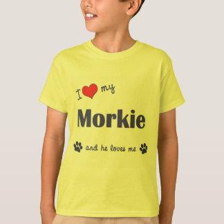 I Liebe mein Morkie (männlicher Hund) T-Shirt