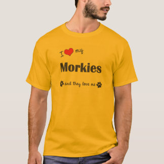 I Liebe mein Morkies (mehrfache Hunde) T-Shirt