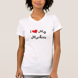 I Liebe mein Morkies T-Shirt