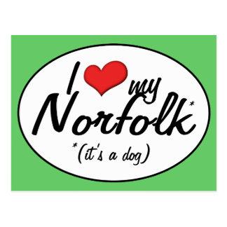 I Liebe mein Norfolk (es ist ein Hund) Postkarte