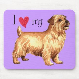 I Liebe mein Norfolk-Terrier Mousepads
