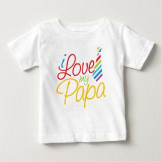 I Liebe mein Papa Baby T-shirt