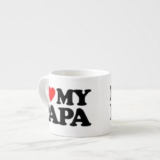 I LIEBE MEIN PAPA Espresso-Tassen