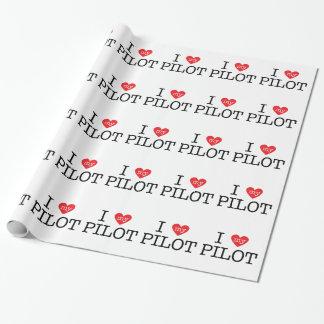 I Liebe mein Pilot Einpackpapier