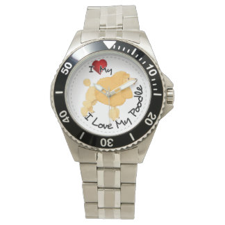 I Liebe mein Pudel-Hund Armbanduhr