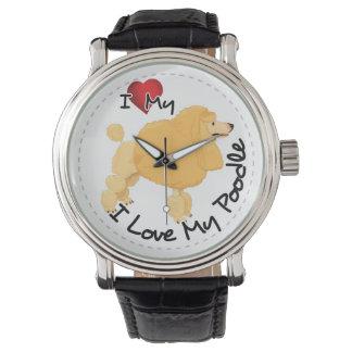 I Liebe mein Pudel-Hund Uhr