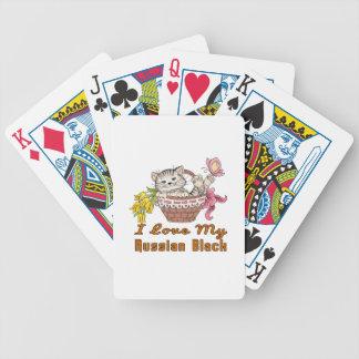 I Liebe mein russisches Schwarzes Pokerkarten