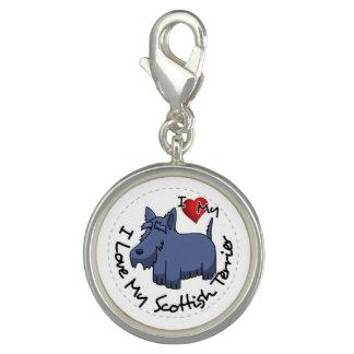 I Liebe mein schottischer Terrier-Hund Foto Anhänger
