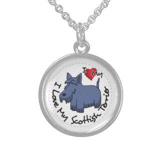 I Liebe mein schottischer Terrier-Hund Sterling Silberkette