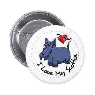 I Liebe mein Scottie-Hund Runder Button 5,7 Cm
