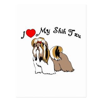 I Liebe mein Shih Tzu Postkarte