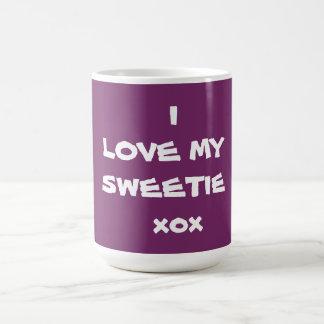 I LIEBE MEIN SWEETIE xox - Kaffee-Tasse - Schöpfer Kaffeetasse