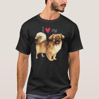 I Liebe mein tibetanischer Spaniel T-Shirt