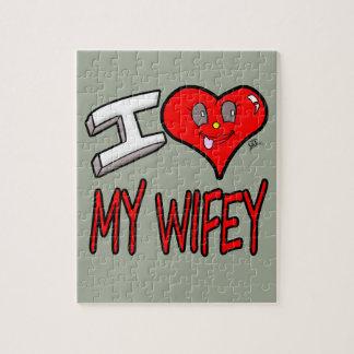 I Liebe mein Wifey Puzzle