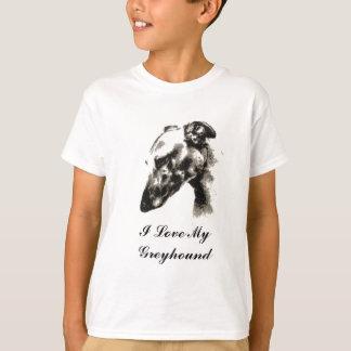 I Liebe mein Windhund-Hund T-Shirt