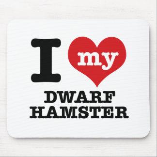 I Liebe mein zwergartiger Hamster Mauspad