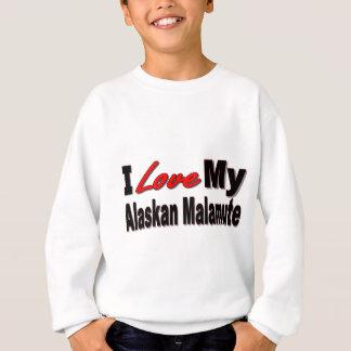 I Liebe meine alaskischer Malamute-Hundewaren Sweatshirt