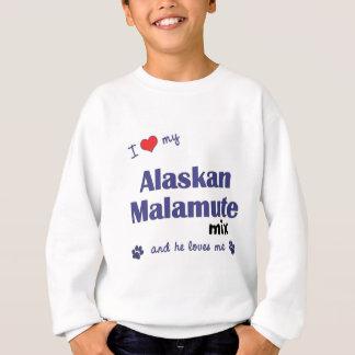 I Liebe meine alaskischer Malamute-Mischung Sweatshirt