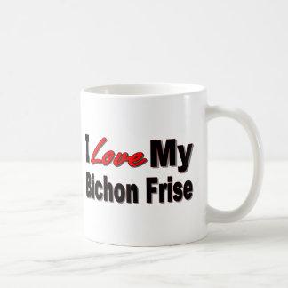 I Liebe meine Bichon Frise Hundewaren Tasse