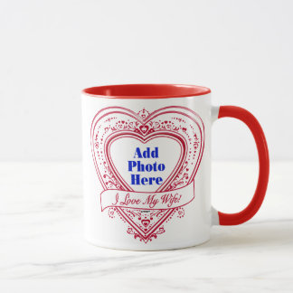 I Liebe meine Ehefrau! - Foto-Rot-Herzen Tasse
