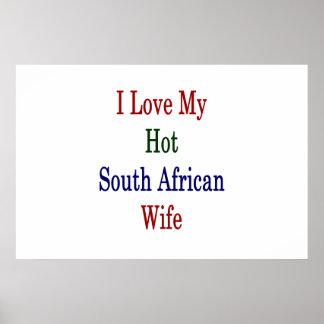 I Liebe meine heiße südafrikanische Ehefrau Poster