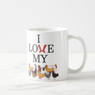 I Liebe meine Hühner Kaffeetasse