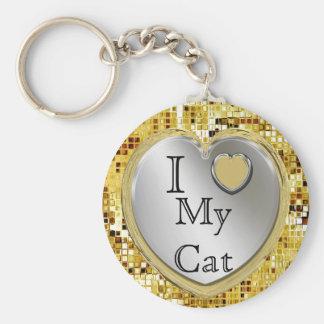 I Liebe meine Katze oder? Herz Keychain Schlüsselanhänger