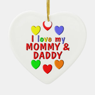 I Liebe meine Mama und Vati Keramik Ornament
