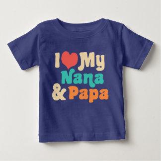 I Liebe meine Nana und Papa Baby T-shirt
