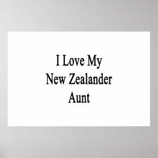 I Liebe meine neue Zelander Tante Poster