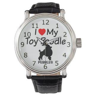 I Liebe meine Spielzeug-Pudel-Hundeuhr Uhr