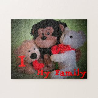 I Liebe meine verschiedene Familie Puzzle