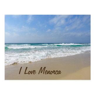 I Liebe Menorca Strand Postkarte