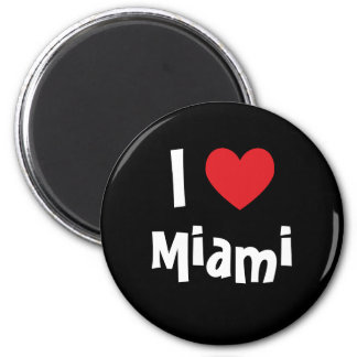 I Liebe Miami Runder Magnet 5,7 Cm