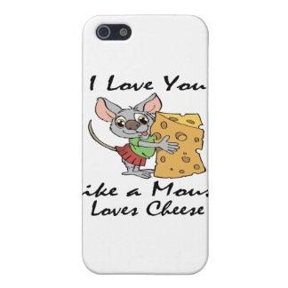 I Liebe mögen Sie ein MäuseLiebe-Käseschwarzes Hülle Fürs iPhone 5