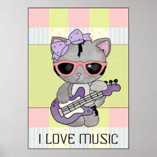 I Liebe-Musikplakat Poster