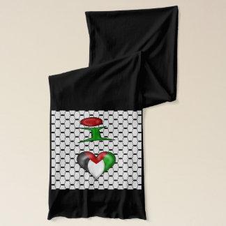 I Liebe Palästina auf schwarzem Hintergrund Schal
