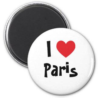 I Liebe Paris Runder Magnet 5,7 Cm
